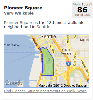 Pioneer Square Seattle Walk Score