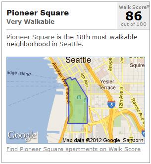 Pioneer Square Seattle Walk Score