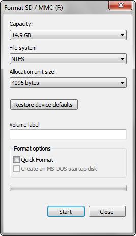 format-drive-screen